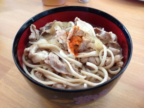 肉うどん風 全粒麺